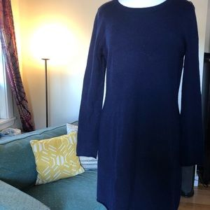 Cynthia Rowley navy blue sweater dress